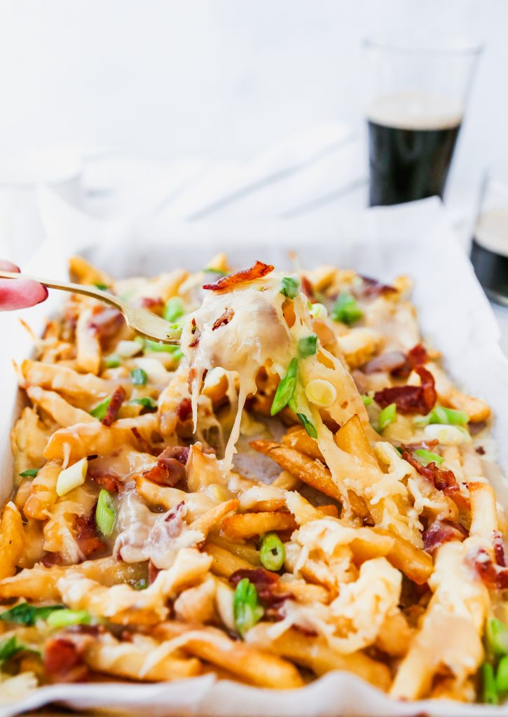 Irish Cheddar Poutine with Bacon & Whiskey Gravy