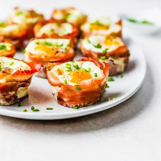Prosciutto Egg Cups with Spinach & Horseradish