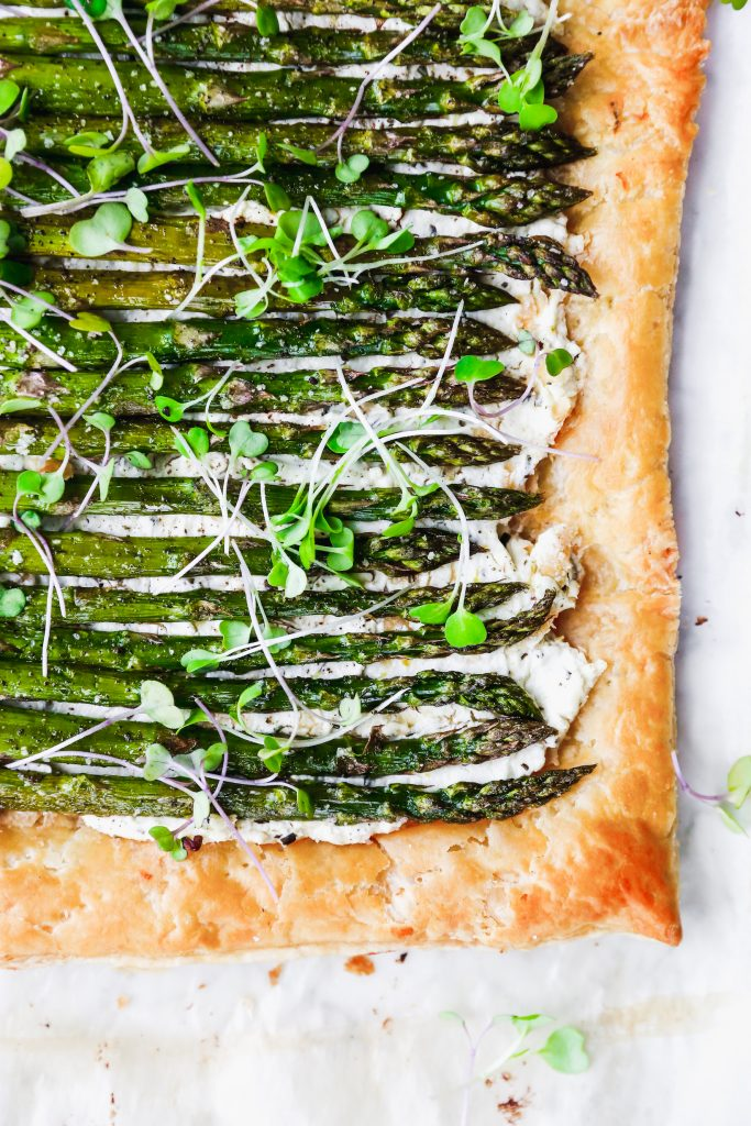Roasted Asparagus & Goat Cheese Tart