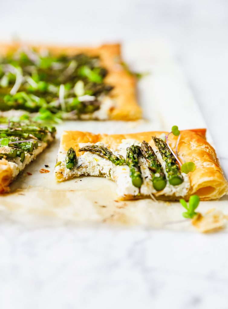 Roasted Asparagus & Goat Cheese Tart