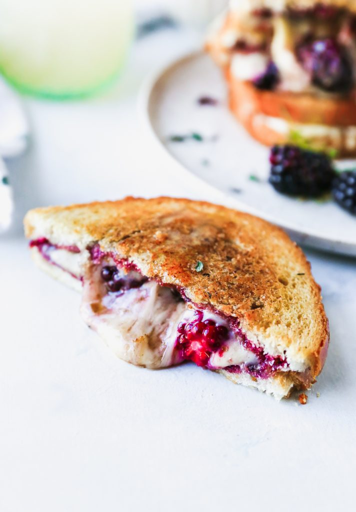 Fontina & Blackberry Grilled Cheese with Thyme Butter