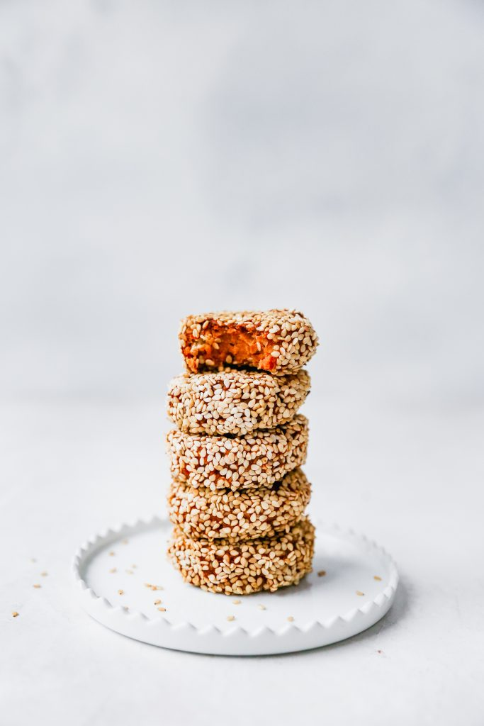 Meal Prep Sesame-Sweet Potato Falafel Bowls