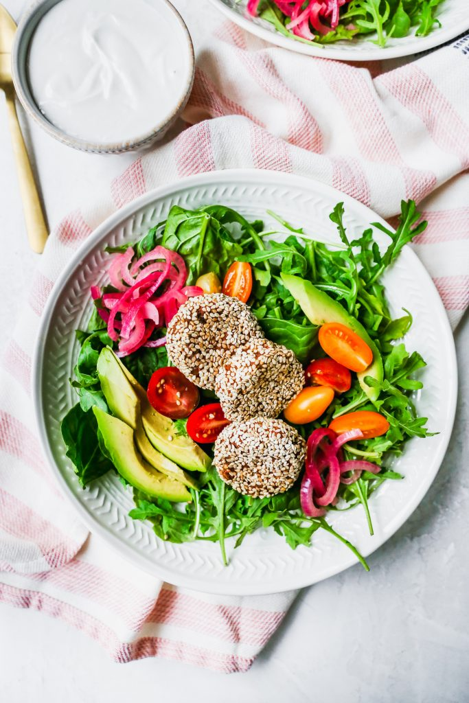 Meal Prep Sesame-Sweet Potato Falafel Bowls