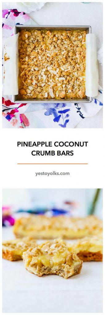 Pineapple Coconut Crumb Bars