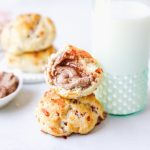 Bacon Cheddar Drop Biscuits with Cinnamon Vanilla Butter