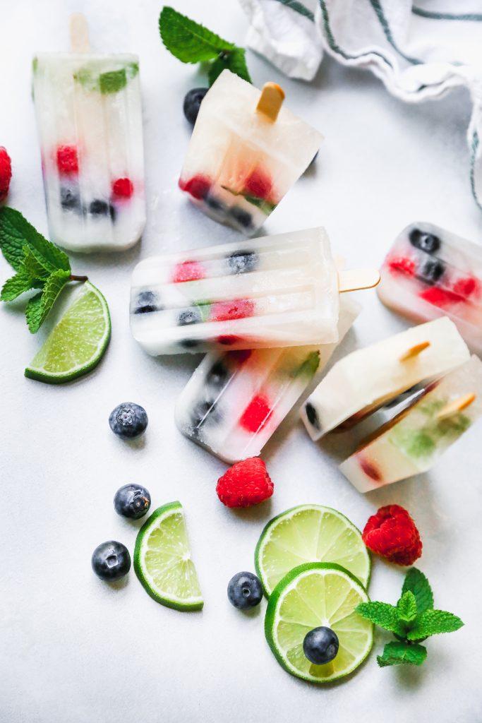 Lemonade Berry Mojito Popsicles