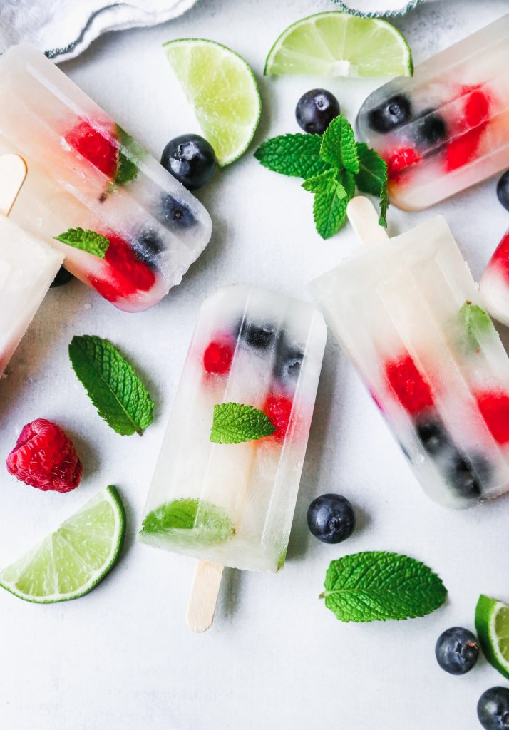 Lemonade Berry Mojito Popsicles