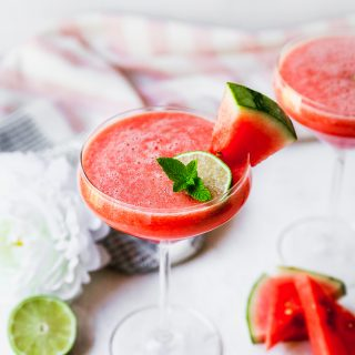 Watermelon & Rosé Vodka Martinis