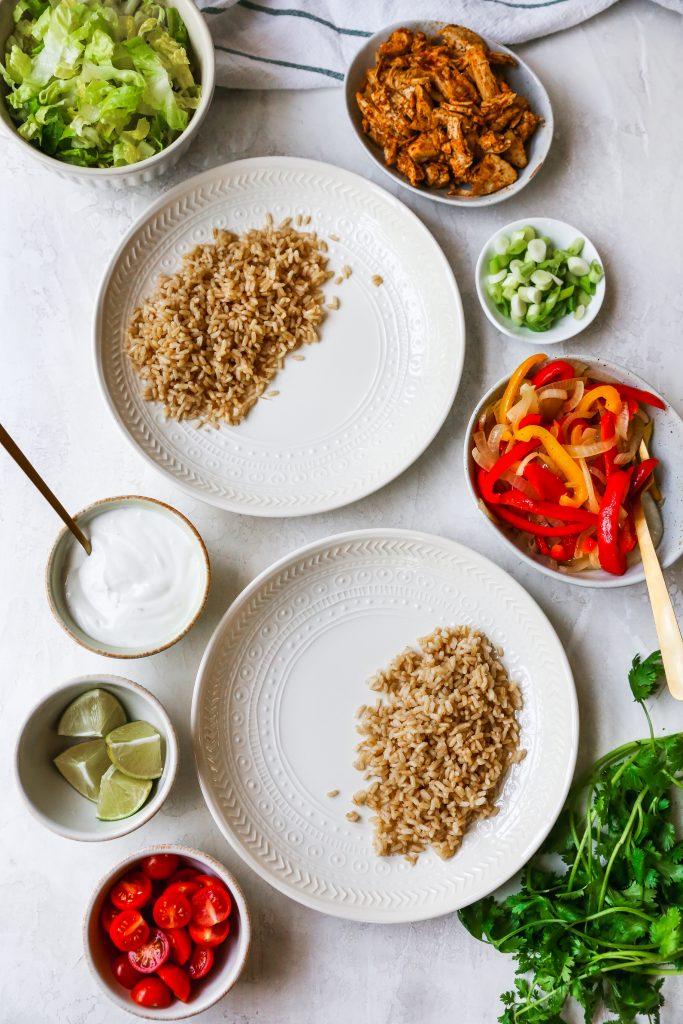 Meal Prep Chicken Taco Bowls