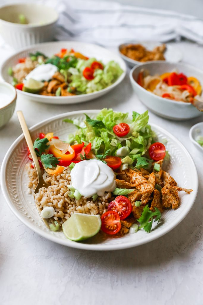 Meal Prep Chicken Taco Bowls