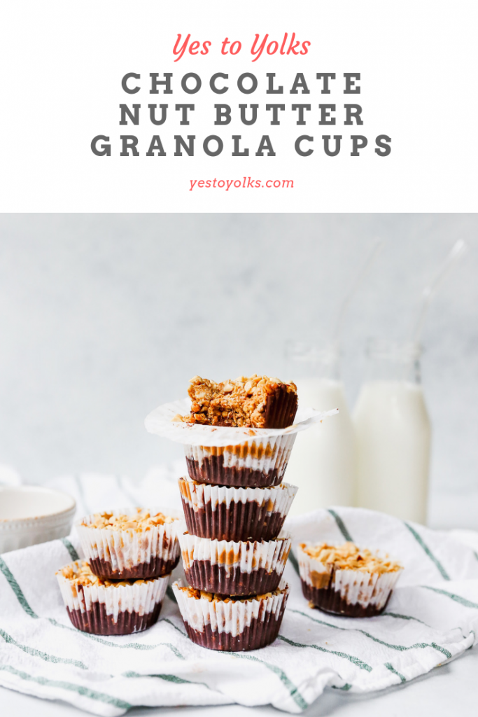 Chocolate Nut Butter Granola Cups