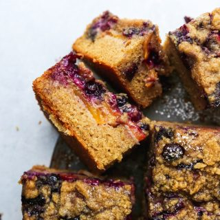 Peach & Blueberry Coffee Cake