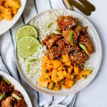 Meal Prep Slow-Cooker Korean Chicken with Mango Salsa