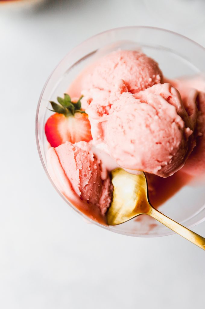 Strawberry Lemonade Mascarpone Sorbet