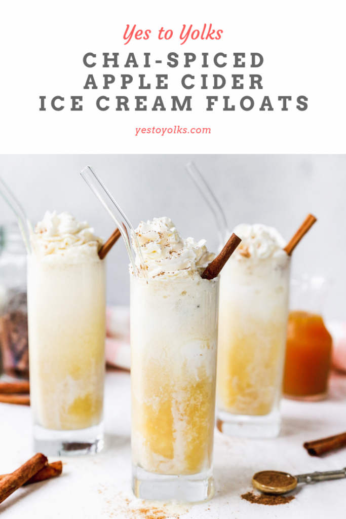 Chai-Spiced Apple Cider Floats