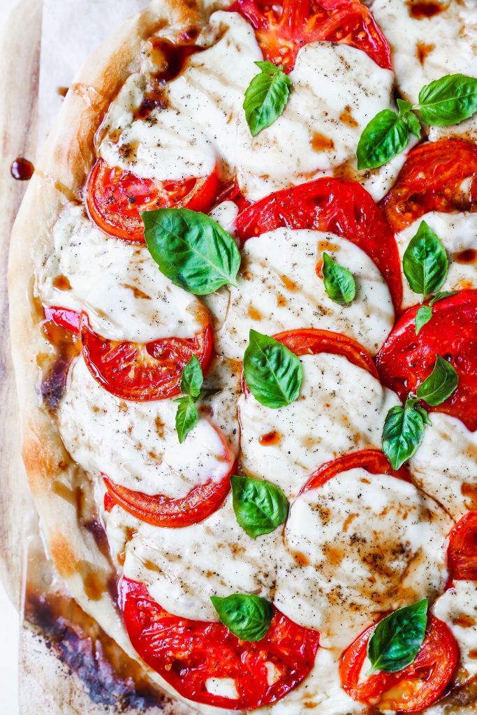 Caprese Goat Cheese Pizza