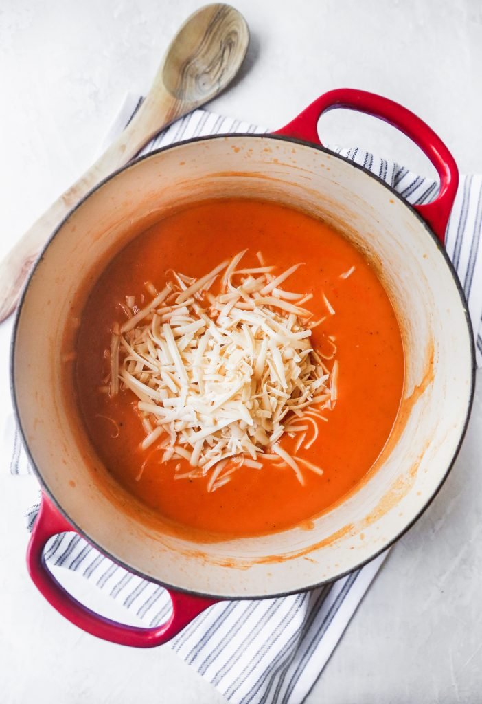 Spicy Smoked Gouda & Roasted Red Pepper Bisque