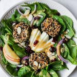 Spinach Salad with Sesame-Crusted Goat Cheese