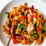 Thai Drunken Noodles with Chicken