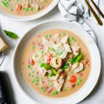 Crock Pot Creamy Chicken Tortellini Soup