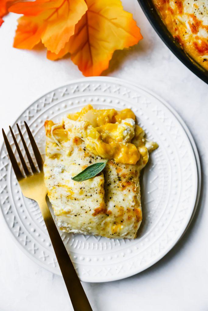 One-Skillet Squash & Sage Lasagna