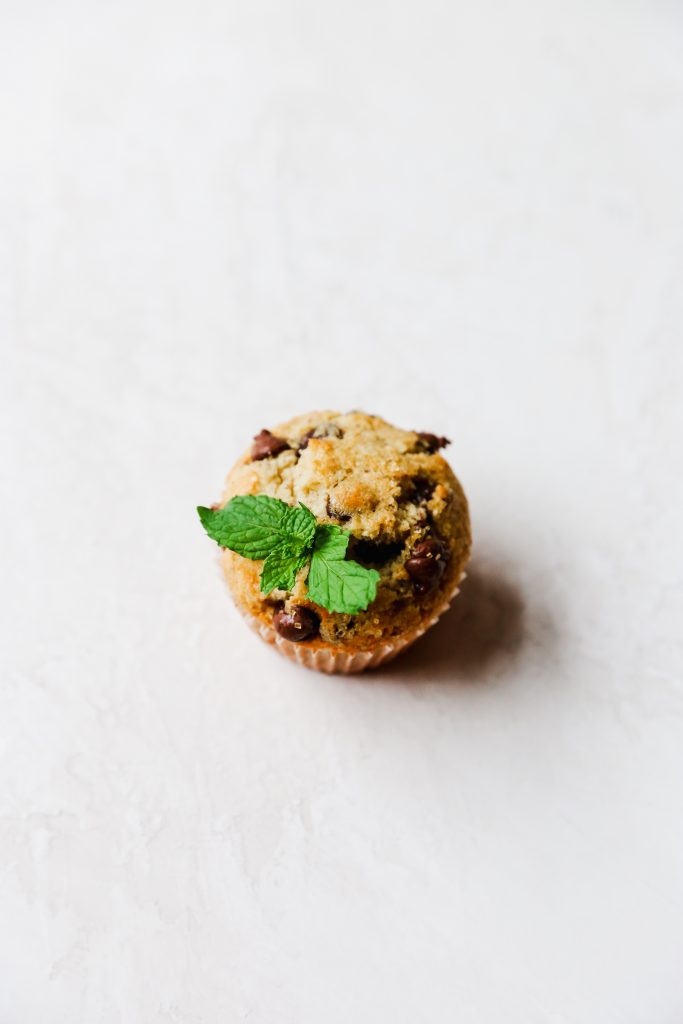 Fresh Mint & Chocolate Chip Muffins