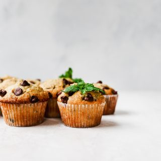 Fresh Mint & Chocolate Chip Muffins