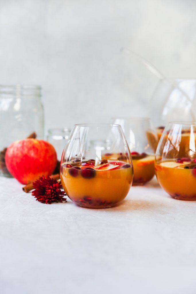 Sparkling Spiced Apple Cider Mocktail