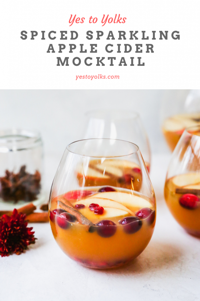 Sparkling Spiced Apple Cider Mocktail