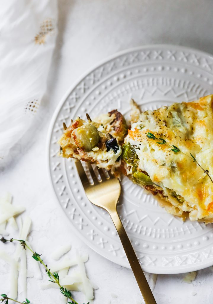Brussels Sprout, Gruyere, & Bacon Quiche