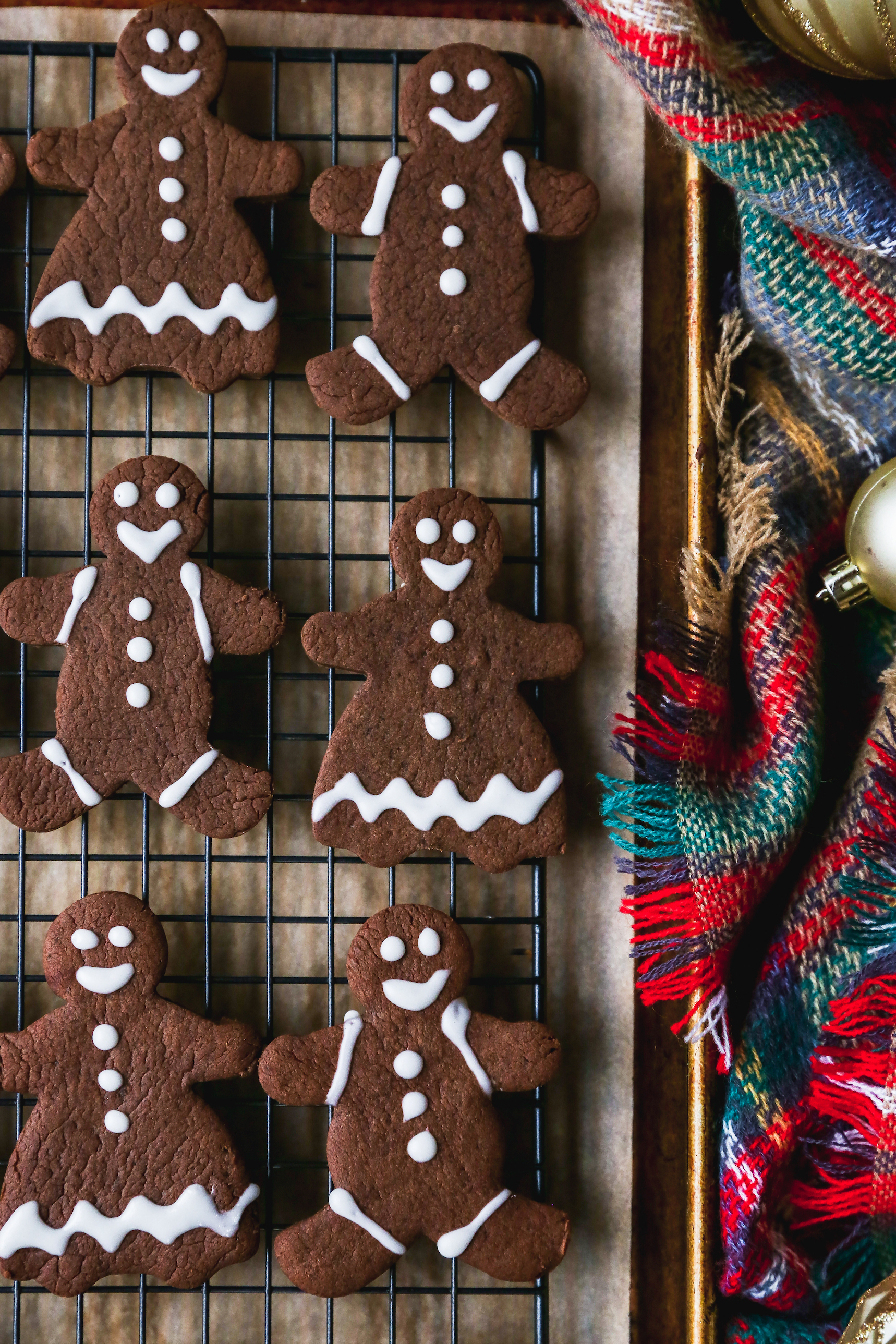 Chocolate Tahini Gingerbread Cookies