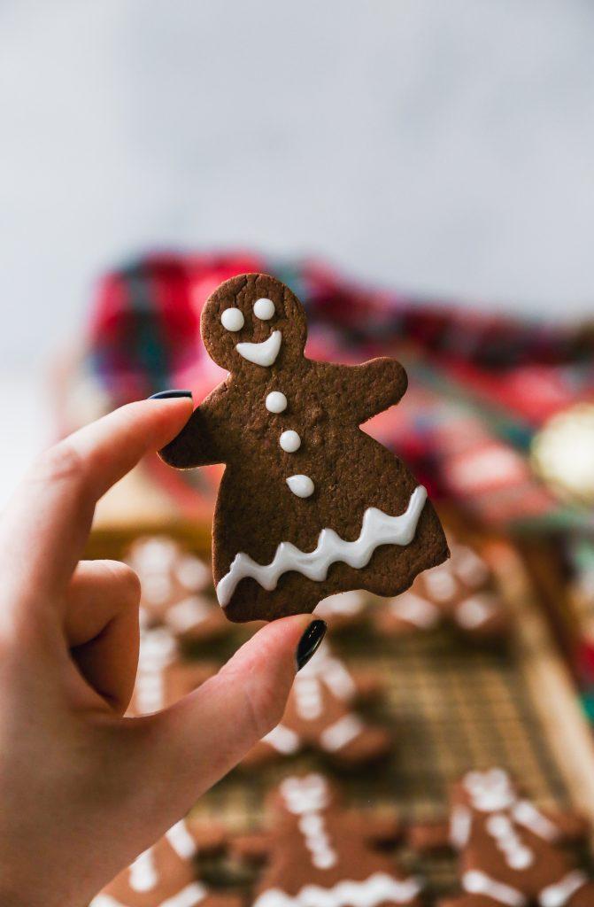 Chocolate Tahini Gingerbread Cookies
