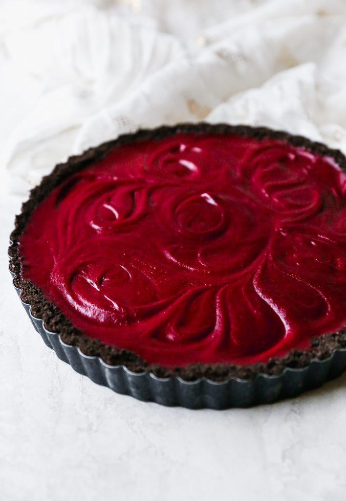 Chocolate Pomegranate Tart