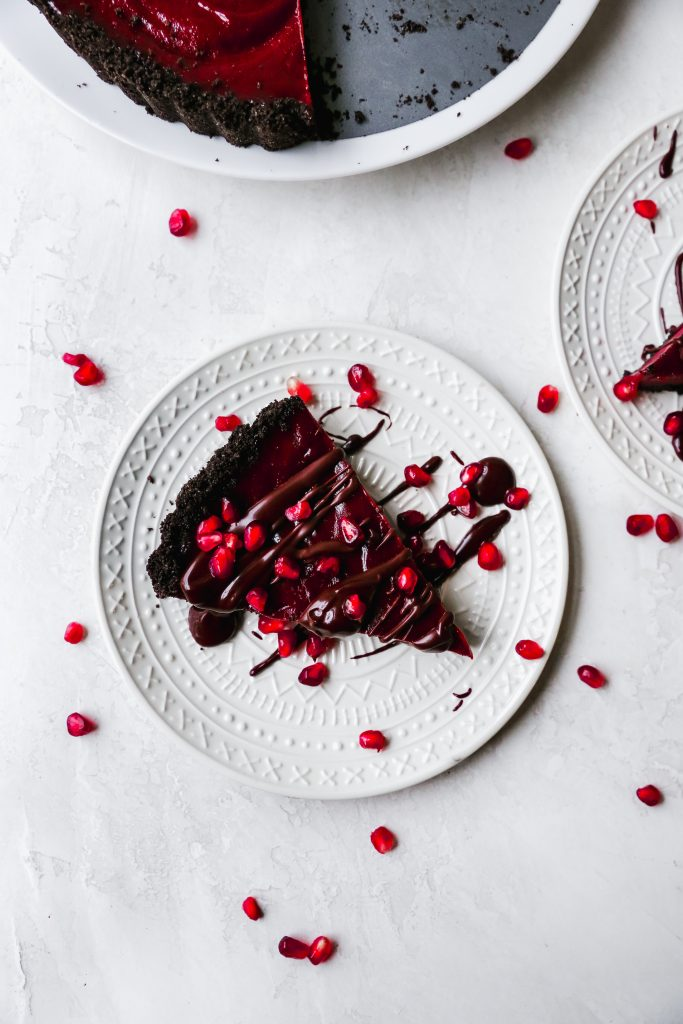 Chocolate Pomegranate Tart