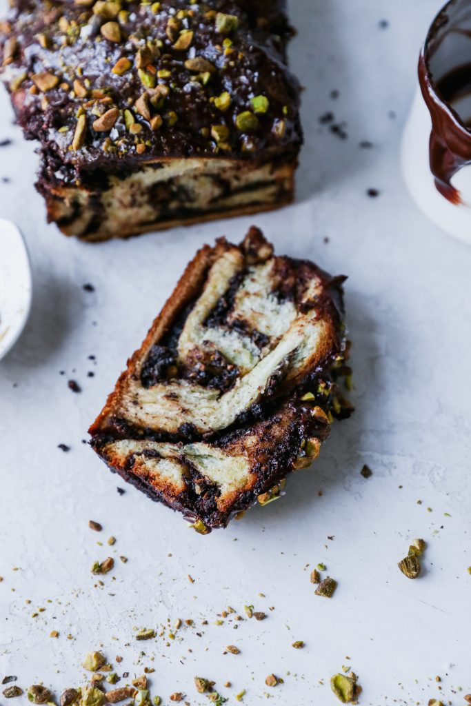 Salted Chocolate Pistachio Babka