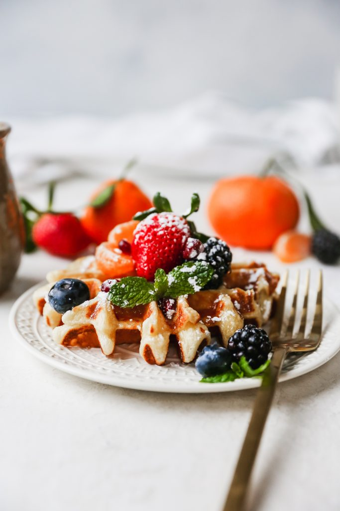 Lemony Greek Yogurt Waffles