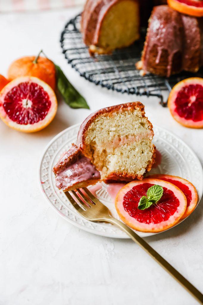 Blood Orange Yogurt Bundt Cake