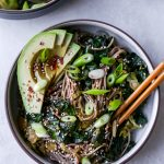Warm Soba Noodle Salad with Greens & Avocado