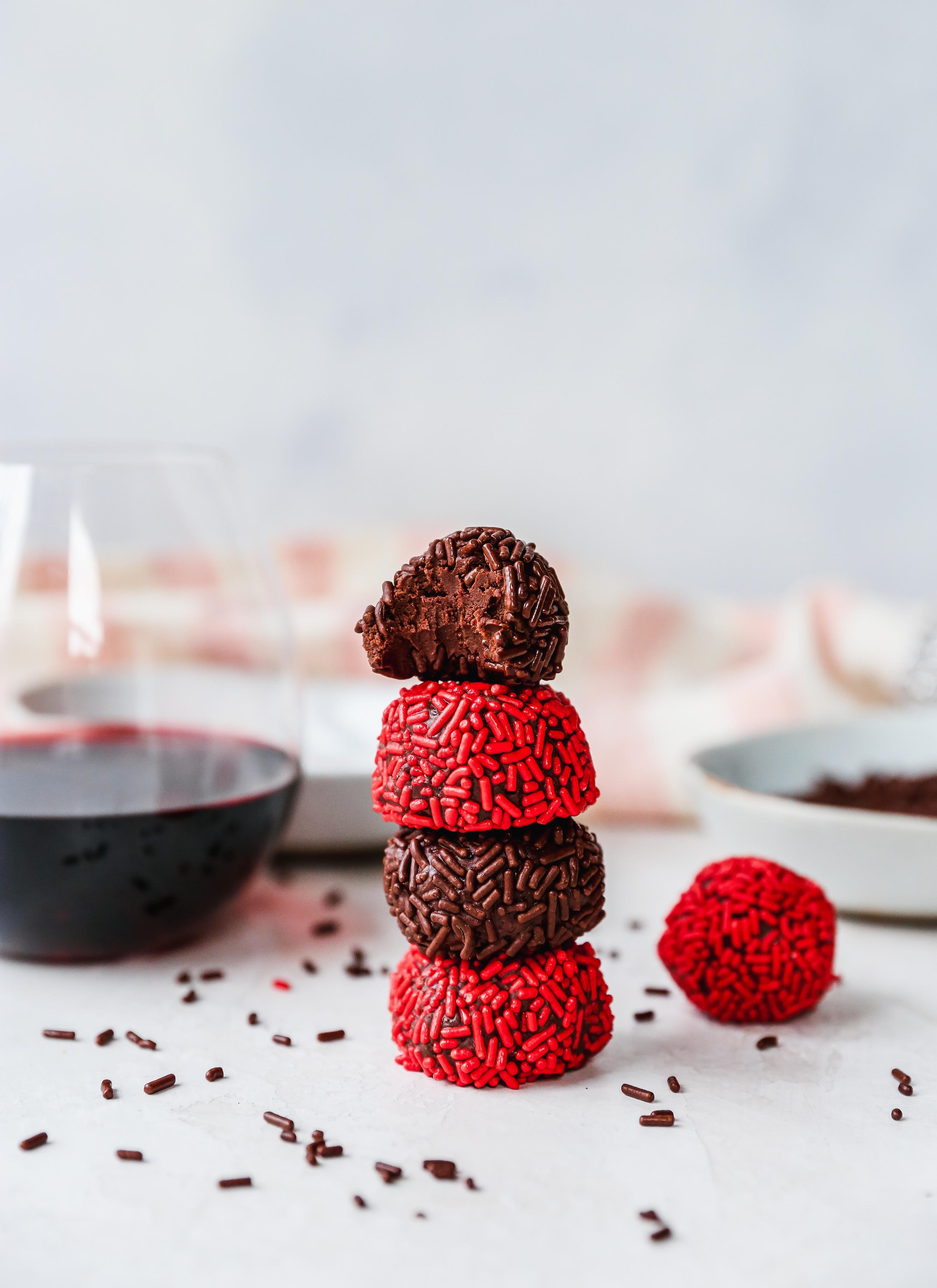 Dark Chocolate & Red Wine Truffles