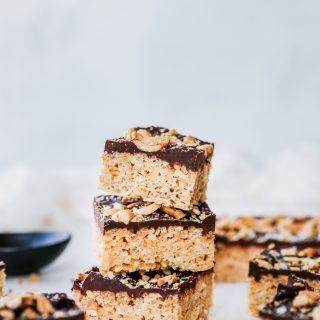 Cashew Butter & Chocolate Cereal Treats