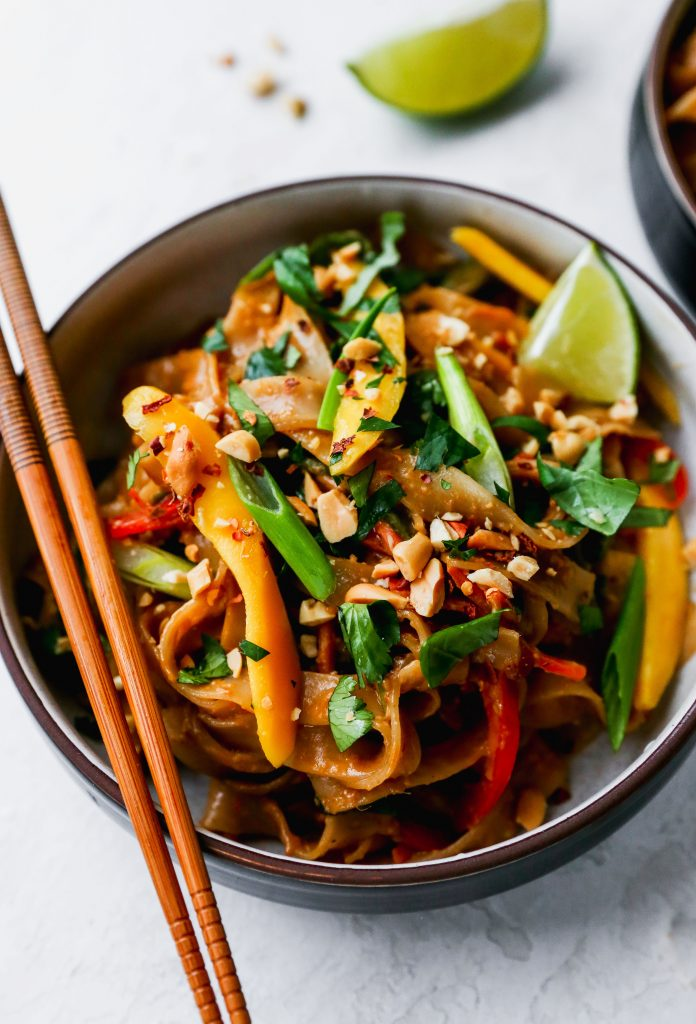 Quick & Easy Spicy Peanut Noodles with Mango