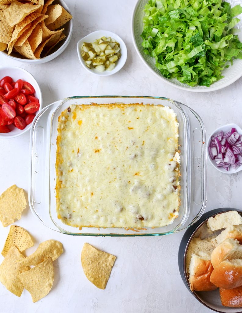 Layered Cheeseburger Dip