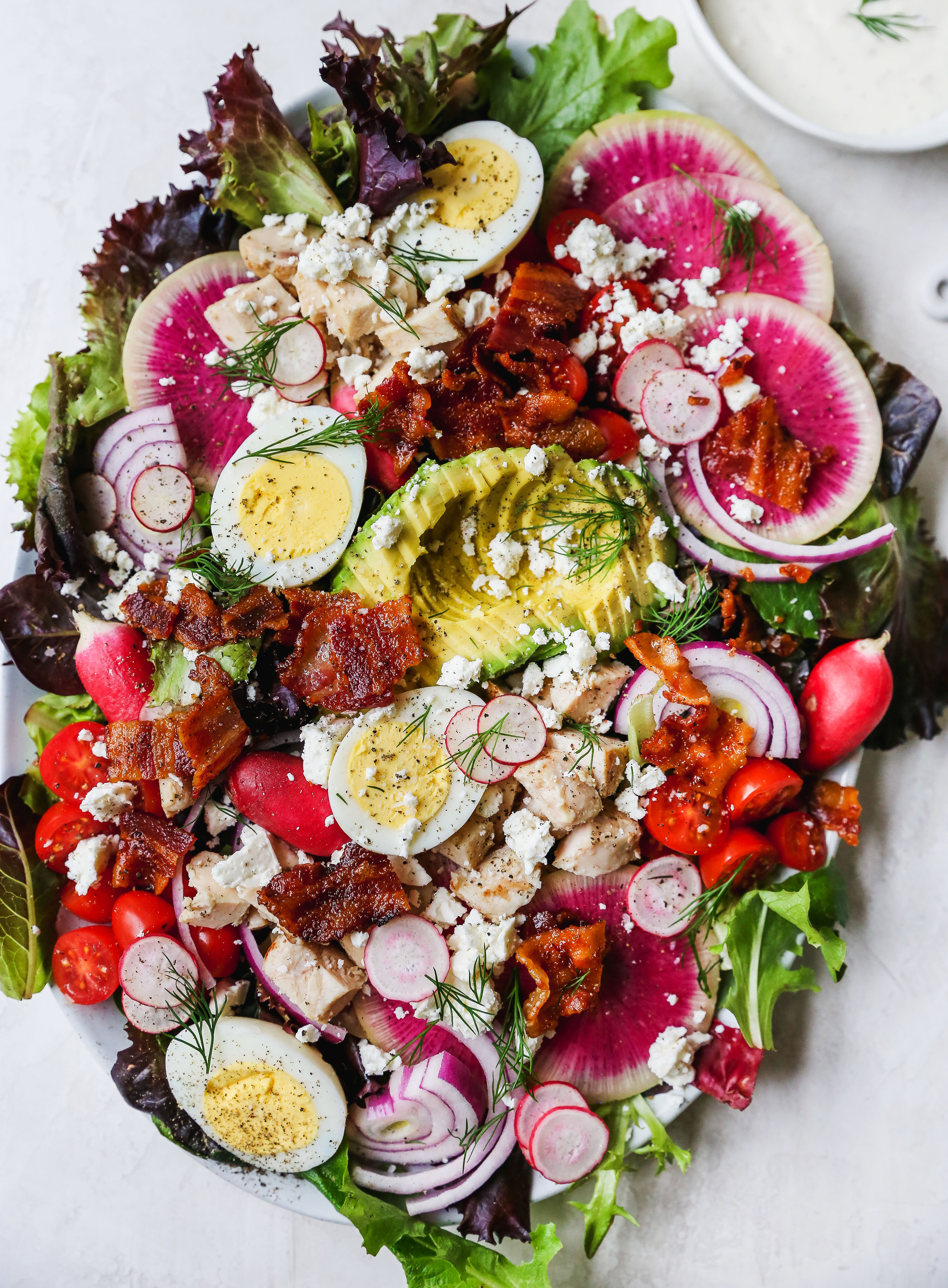 Spring BLT Cobb Salad with Creamy Dill Dressing