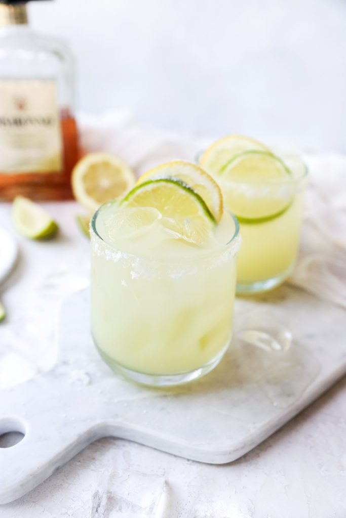 Amaretto Margaritas (with homemade sweet-and-sour mix)