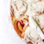 Strawberries & Cream Sweet Rolls