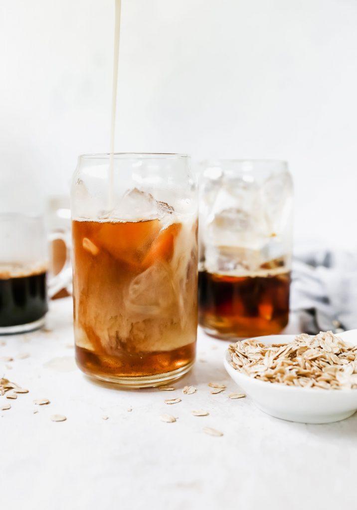 Iced Maple Cinnamon Oat Milk Lattes