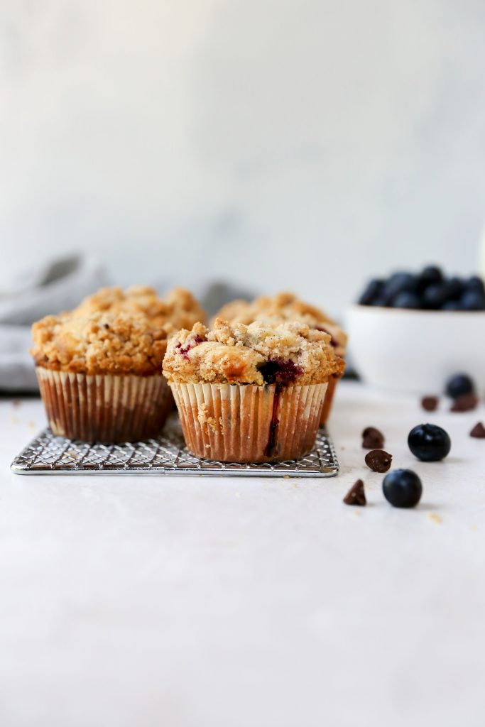 Blueberry & Chocolate Chip Streusel Muffins
