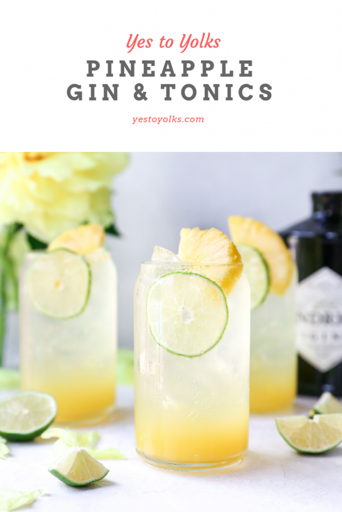Pineapple Gin & Tonics