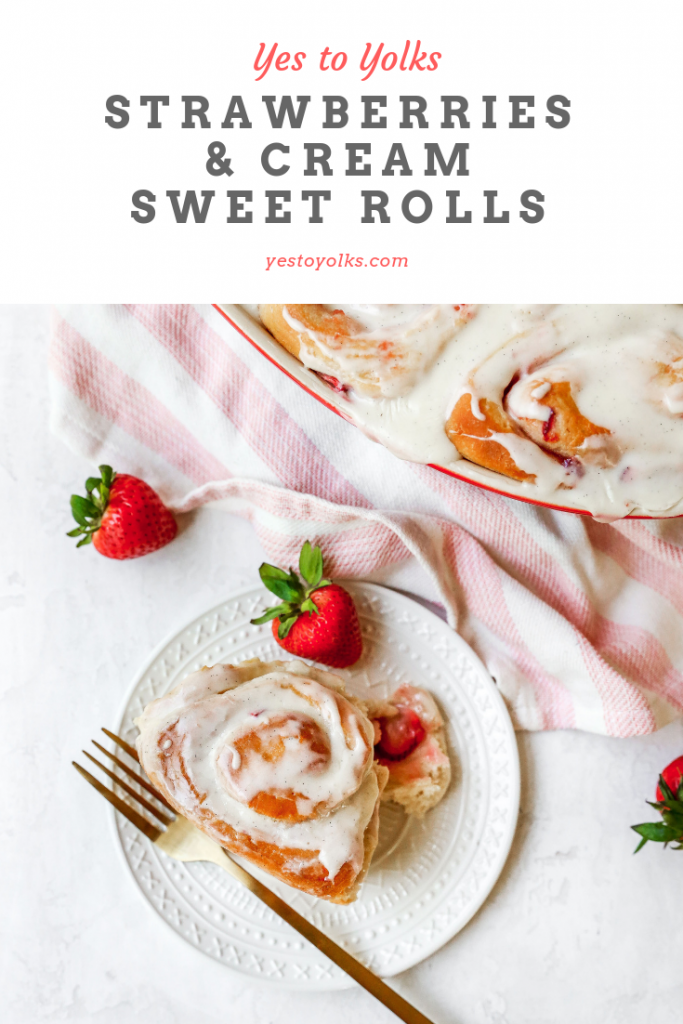 Strawberries & Cream Sweet Rolls