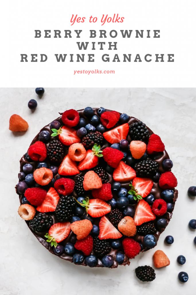 Berry Brownie with Red Wine Ganache